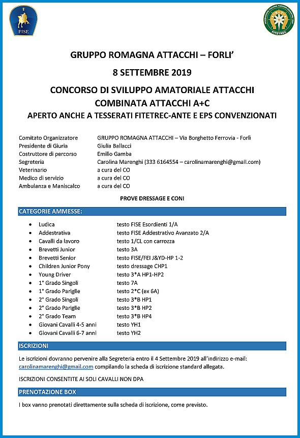 Fise Piemonte Calendario.Calendario Eventi Carrozze Cavalli