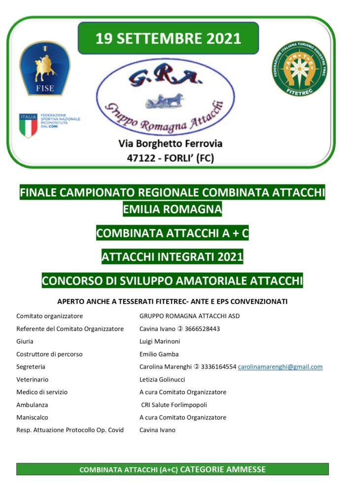 Forlì, Combinata FISE + Concorso di Sviluppo @ Gruppo Romagna Attacchi, via Borghetto Ferrovia
