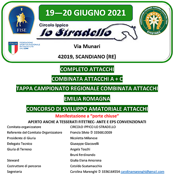 Scandiano/RE, Completo & Combinata FISE, Concorso di sviluppo @ C.I. Lo Stradello, Via Munari 7