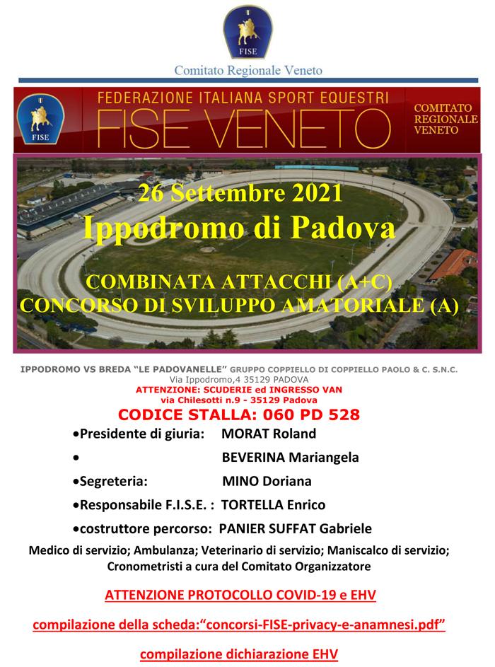 """Padova, Combinata FISE + Giovani Cavalli @ Ippodromo VS Breda """"Le Padovanelle"""""""