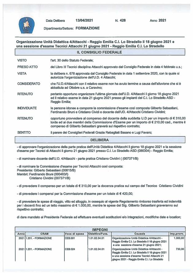 Scandiano/RE, UD 4/Attacchi ed esame